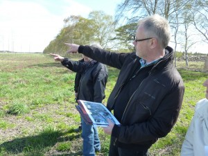 September 2012. Ulf Gahm at the site of the March 1944 crash landing of the B-17 Liberty Lady