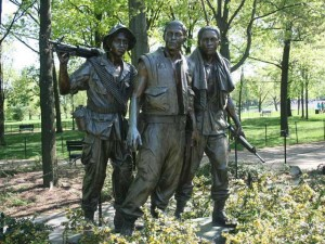 The Korean War Veterans Memorial in Washington, DC ... one of the stops for the April 2nd Honor Air trip