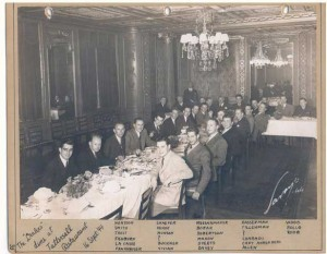 The same Dinner Party, from the wartime scrapbook of Nicholas Kehoe.