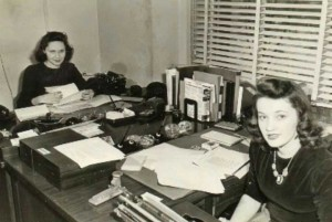 1942, Hedy Johnson (right) at work in Washington, D.C.