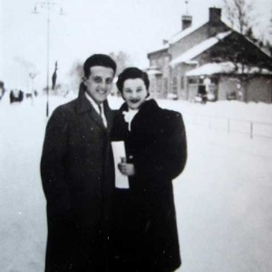 Herman and Hedvig Allen in Rättvik, January 1945. photo sent to me by  Jan-Olof Nilsson