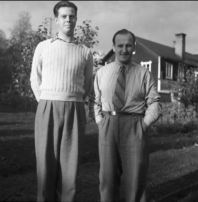 Lt. Donald K. Goss (on left) with Swedish friend. Photo from Kristina Haag Larsen.