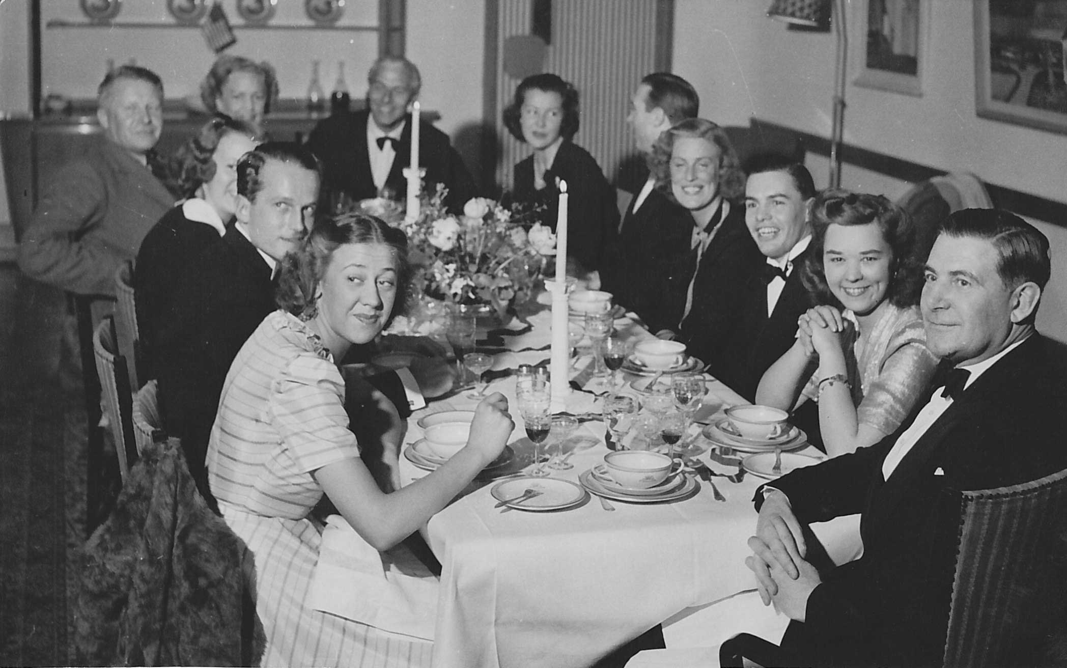 Dinner party Stockholm 1944